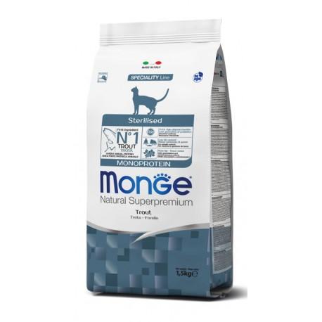 Monge Gatto Sterilizzato 1,5 kg Monoproteico con Trota