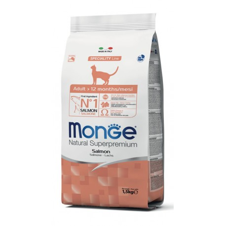 Monge Gatto Natural Superpremium Adult 1,5 Kg con Salmone