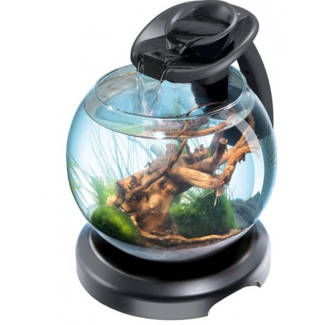 Tetra Duo Waterfall Globe Nero Nano Acquario 6,8L Completo con Led