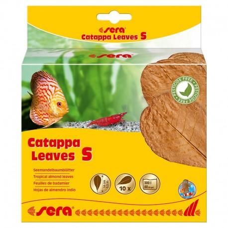 Sera 10 Foglie di Catappa S 14 cm per Pesci Acquario