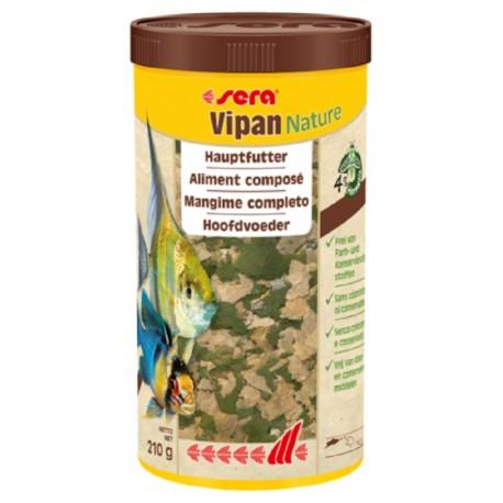 Sera Vipan Nature 1000 ml 210gr Cibo in Scaglie per Pesci Ornamentali