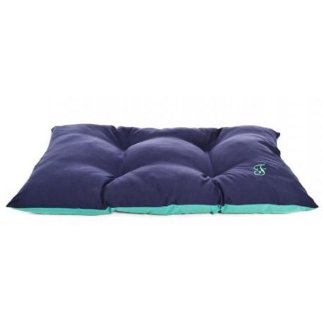 Ferribiella Cuscino Blu Verde Bicolore Imbottito per Cane 85x 55 cm T792/4