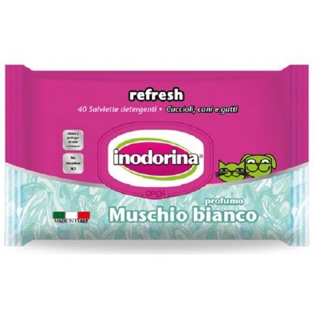 Inodorina Refresh Salviette Igieniche al Muschio Bianco 40 pz