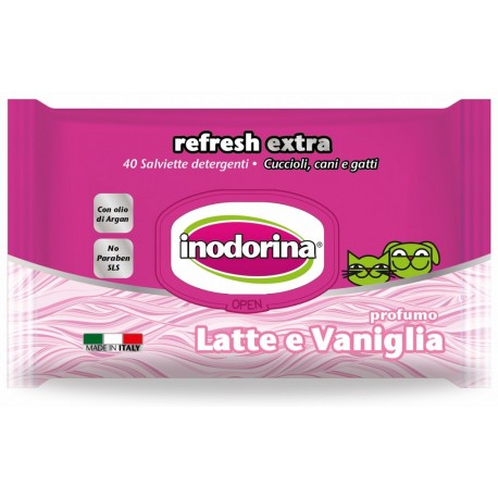 Inodorina Refresh Extra Salviette Igieniche con Latte e Vaniglia 40 pz