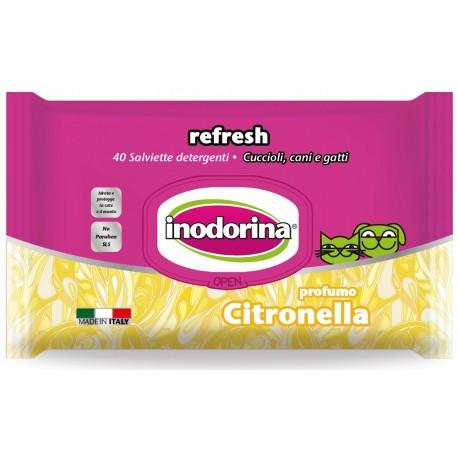 Inodorina Refresh Salviette Igieniche alla Citronella 40 pz