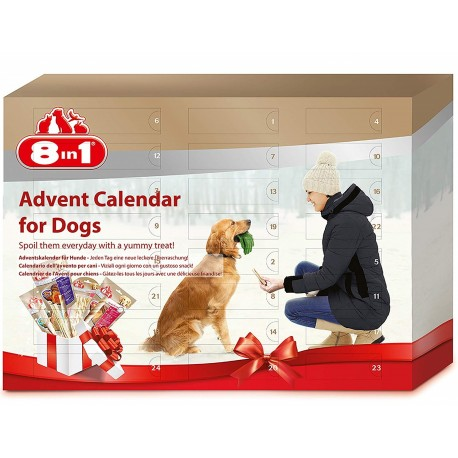 8in1 Calendario dell'Avvento per Cani 24 Snack misti