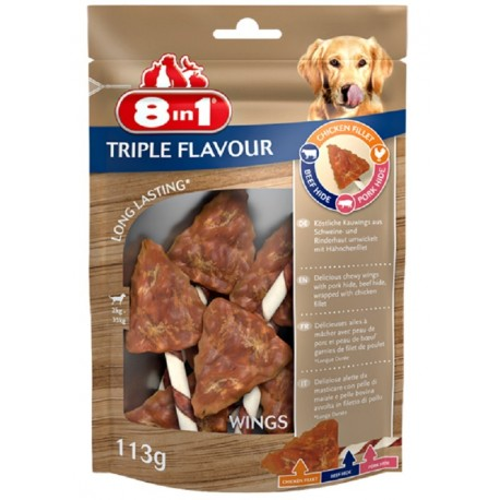 8in1 Triple Flavour Wings 113gr Snack 6 Cicche Alette per Cani
