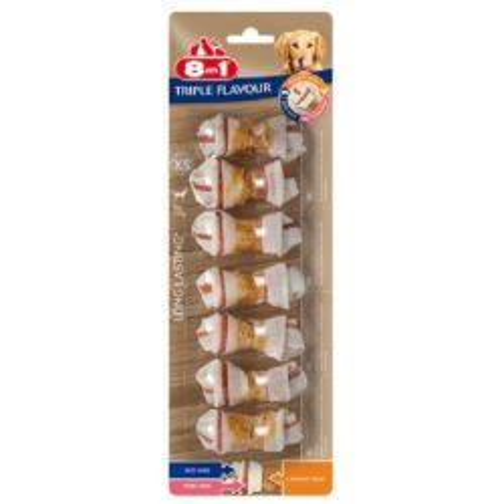 8in1 Triple Flavour 7 Ossetti XS Snack per Cani