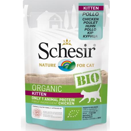 Schesir Bio Kitten con Pollo 85 gr Cibo Umido per Gatti