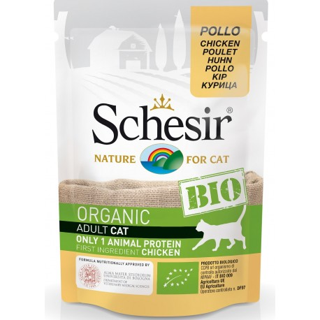 Schesir Bio Adult con Pollo 85 gr Cibo Umido per Gatti Adulti