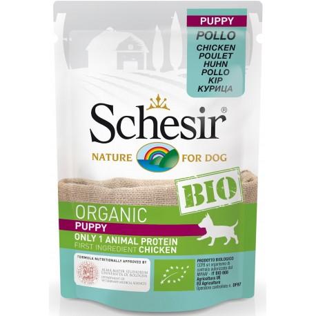 Schesir Bio Puppy Dog con Pollo 85 gr Bustina Umido per Cane Cucciolo