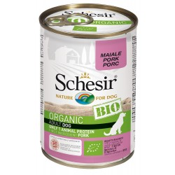 Schesir Bio Adult Dog con Maiale 400 gr Scatoletta Umido per Cane