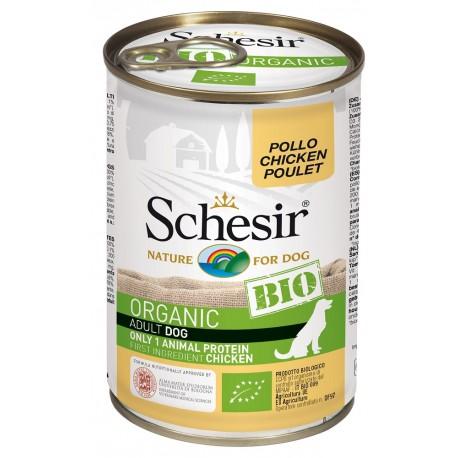 Schesir Bio Adult Dog con Pollo 400 gr Scatoletta Umido per Cane