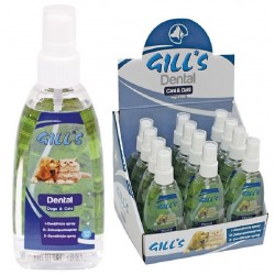 Dental Gill's 100 ml Dentifricio Spray alito fresco per Cane e Gatto