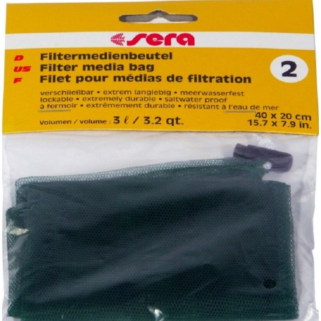 Sera Filter Media Bag 2 Sacchetto per materiali filtranti Acquario