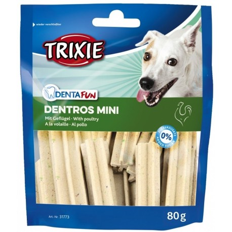 Trixie Dentros Mini con Pollo 80 gr Snack Dentale per Cane