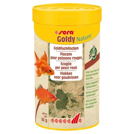 Sera Goldy Nature 250 ml 60 gr Mangime in Scaglie per Pesci Rossi
