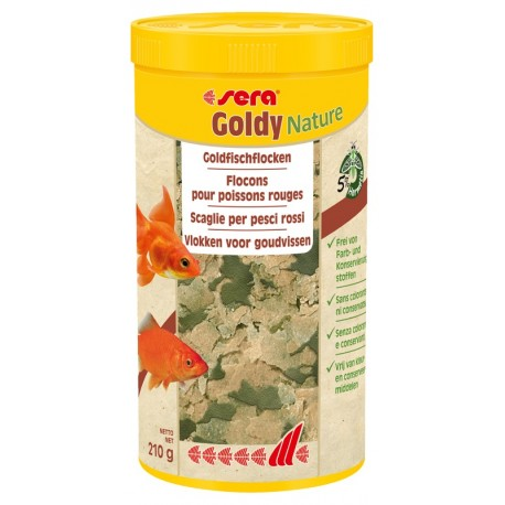 Sera Goldy Nature 1000 ml 210 gr Mangime in Scaglie per Pesci Rossi