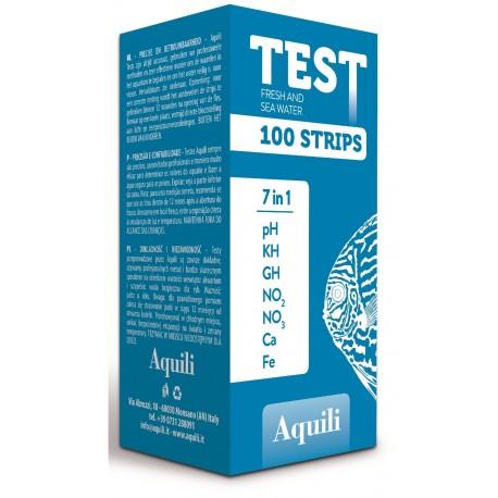 Aquili Test 100 Strisce 7 in 1 per Acquario