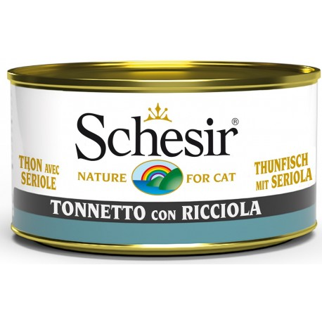 Schesir Cat Tonnetto con Ricciola 85gr Alimento Umido per Gatti
