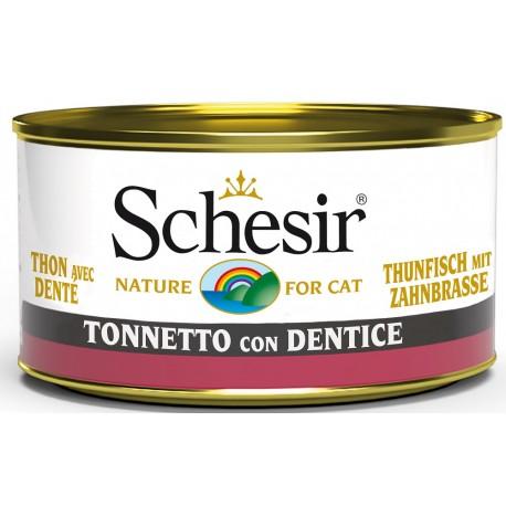 Schesir Cat Tonnetto con Dentice 85gr Alimento Umido per Gatti