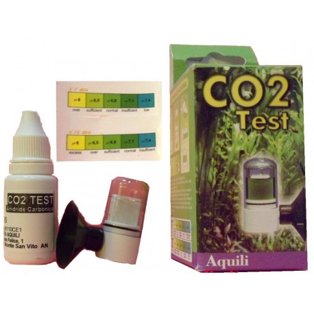 Aquili test CO2 ampolla plastica misurazione continua anidride carbonica acquario