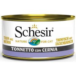 Schesir Cat Tonnetto con Cernia 85gr Alimento Umido per Gatti