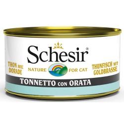 Schesir Cat Tonnetto con Orata 85gr Alimento Umido per Gatti