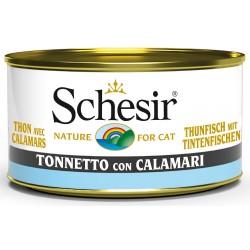 Schesir Cat Tonnetto con Calamari 85gr Alimento Umido per Gatti