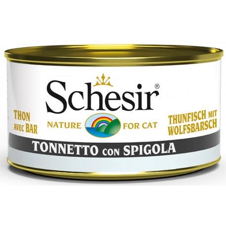 Schesir Cat Tonnetto con Spigola 85gr Alimento Umido per Gatti