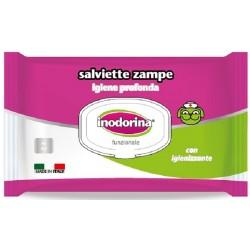 Inodorina Salviette Zampe con Igienizzante per Cane e Gatto