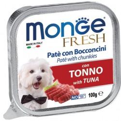 Monge Fresh Patè e Bocconcini con Tonno 100 gr per Cane