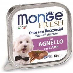 Monge Fresh Patè e Bocconcini con Agnello 100 gr per Cane