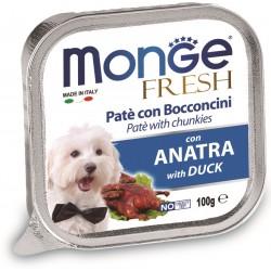 Monge Fresh Patè e Bocconcini con Anatra 100 gr per Cane