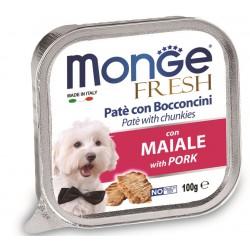 Monge Fresh Patè e Bocconcini con Maiale 100 gr per Cane