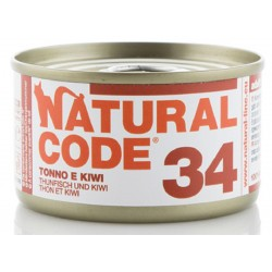 Natural Code 34 Tonno e Kiwi Scatoletta di Umido per Gatti 85 gr