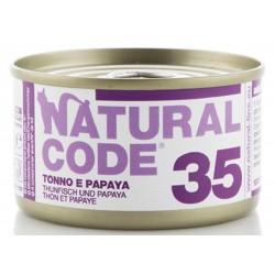 Natural Code 35 Tonno e Papaya Scatoletta di Umido per Gatti 85 gr