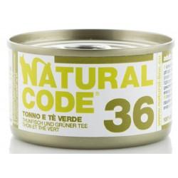 Natural Code 36 Tonno e Te Verde Scatoletta di Umido per Gatti 85 gr