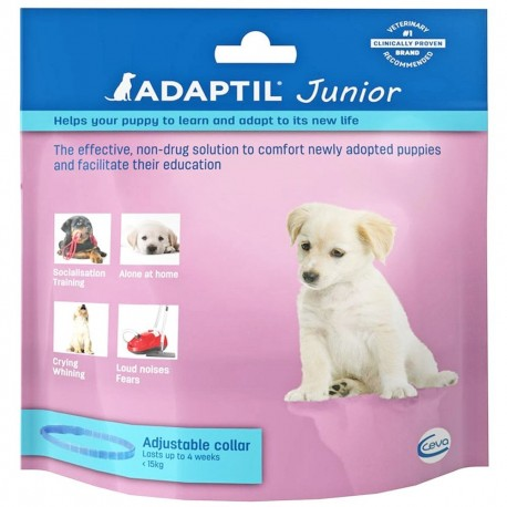 Adaptil Junior Collare Calmante Regolabile per Cane Cuccioli