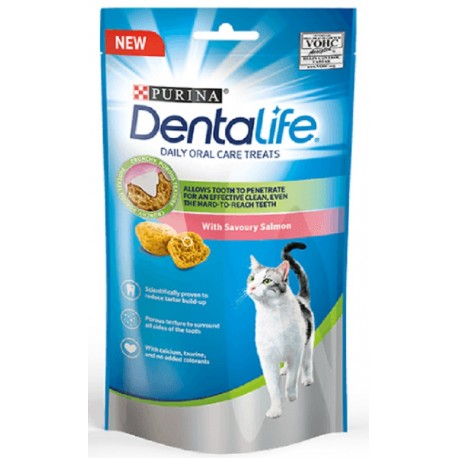 Purina Dentalife con Salmone 40 gr Snack Dentali per Gatto