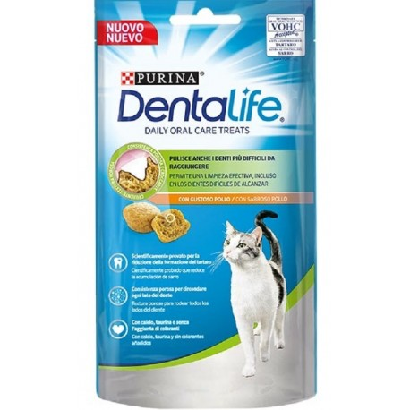Purina Dentalife con Pollo 40 gr Snack Dentali per Gatto