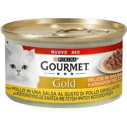 Gourmet Gold 85 gr Delizie in Salsa Pollo Cibo Umido per Gatto