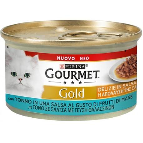 Gourmet Gold 85 gr Delizie in Salsa Tonno Cibo Umido per Gatto
