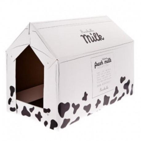 Tiragraffi Ecologico in Cartone Casetta Milk 25x50x35cm