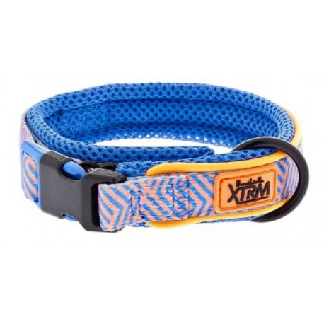 ARIA Collection Collare Traspirante in Mesh Fuxtreme Blu Small per Cane