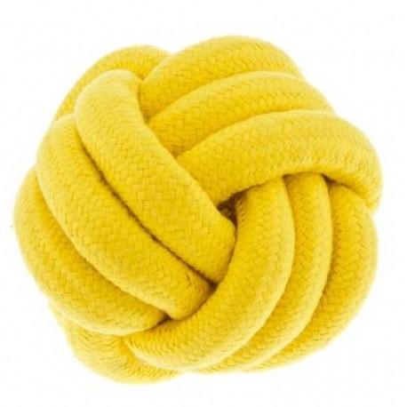 Fuxtreme Gioco Palla Nodo Colore Giallo 12 cm per Cane