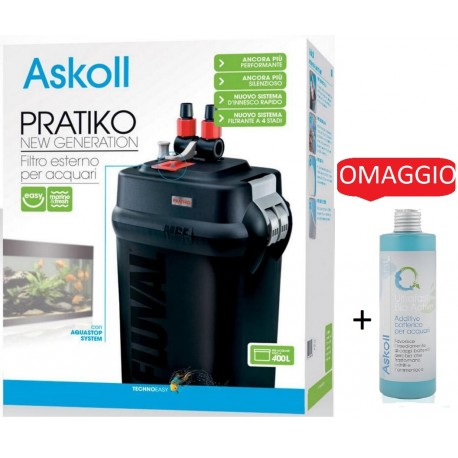 Askoll Pratiko 400 New Generation con Ultrafast Bio Act in OMAGGIO Filtro Esterno per Acquario