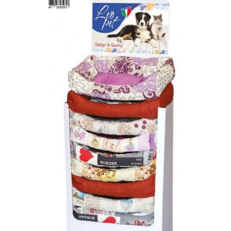 Leopet Cesta Cuccia Imbottita di Colore Assortito 60 x 70 cm per Cane e Gatto