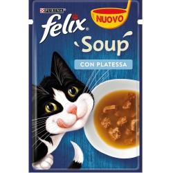 Felix Soup 48 gr Con Platessa Cibo Umido in Zuppa per Gatti