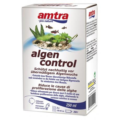 Amtra Pro Nature Algen Control 250 ml - Antialghe per Acquario tratta 250 litri
